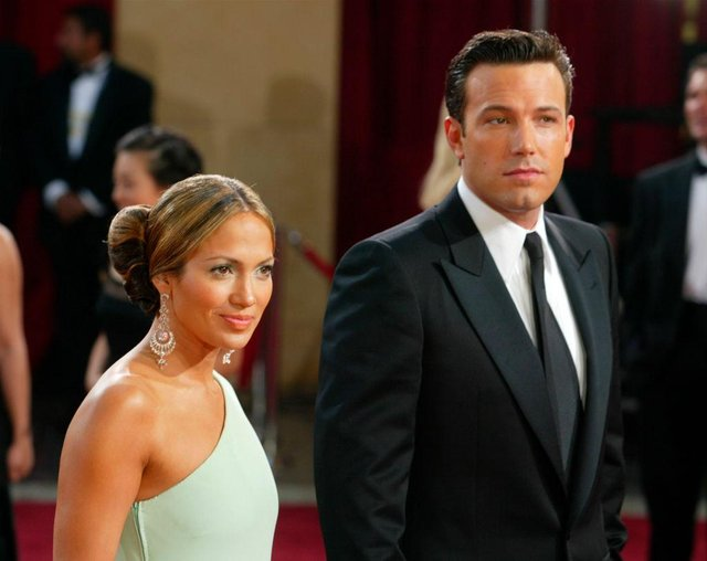 Ben Affleck and Jennifer Lopez (pictured in 2003) have reportedly been vacationing together, following her recent split from fiance Alex Rodriguez (Picture: Getty Images)