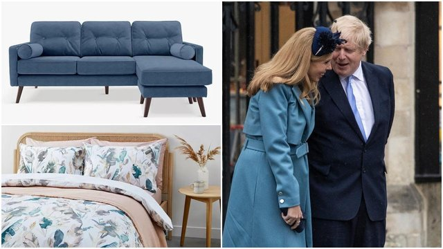 Boris Johnson and Carrie Symonds allegedly turned their noses up at Theresa May's John Lewis furniture (Getty Images/John Lewis)