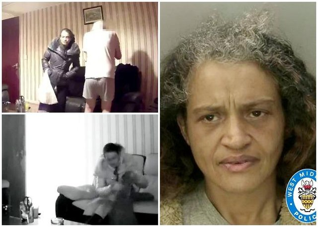 Carol Lewis, 50, tricked the elderly man into allowing her into his home at 5am in the morning