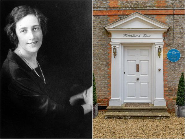 Agatha Christie's former home in Oxfordshire has gone up for sale for more than £2 million (Getty/Savills).