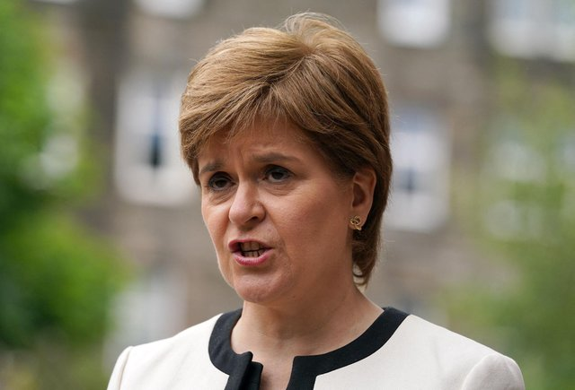 Scotland's First Minister Nicola Sturgeon gave an update on Covid. (Photo by Andrew Milligan / POOL / AFP)