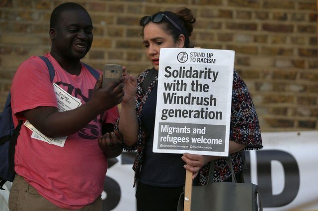 Supporters campaigned for justice for victims of the Windrush generation, as the scandal broke in 2018. (Picture: Getty Images)