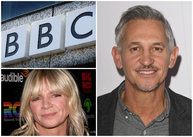 Stars such as Match Of The Day host Gary Lineker and Radio 2 presenter Zoe Ball are reportedly among those who face a pay cut (Getty Images)