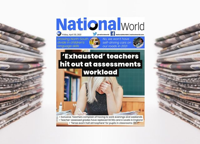 The digital front page of NationalWorld for 30 April