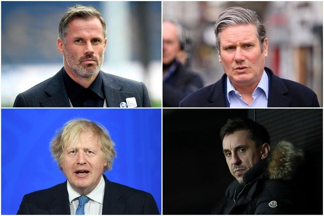 There has been widespread criticism of the European Super League - with Boris Johnson, Sir Keir Starmer, Gary Neville and Jamie Carragher all condemning the plans