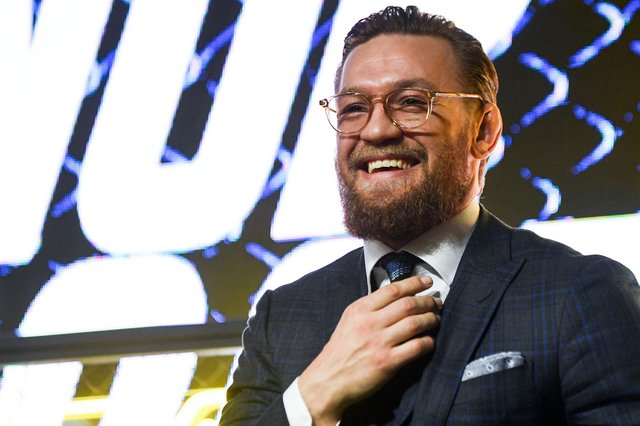 """Irish fighter Conor McGregor wrote to his 8.6 million followers: """"Hey guys, I'm thinking about buying Manchester United! What do you think?"""" on Tuesday 20 April 2021. (Pic: Getty Images)"""