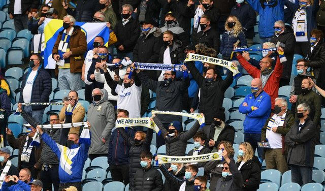 Leeds fans were allowed back into Elland Road for their last game of the 2020/21 season.