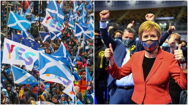 The SNP has vowed to push for a second independence referendum with pro-independence parties holding a majority at Holyrood (Getty Images/Shutterstock)