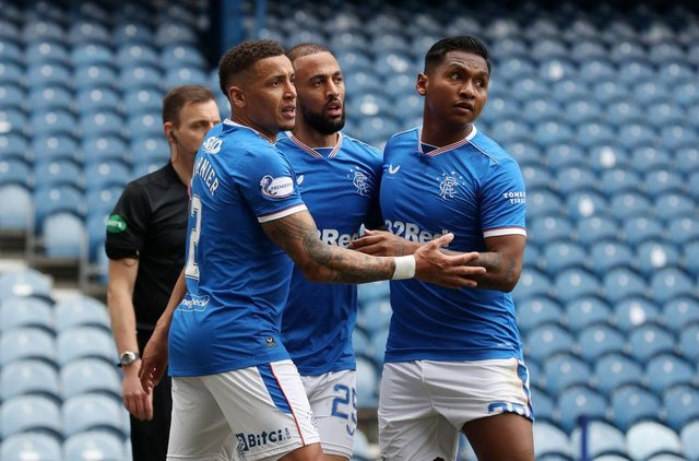 Rangers' lethal strikeforce put a woeful Celtic side to the sword (Getty Images)