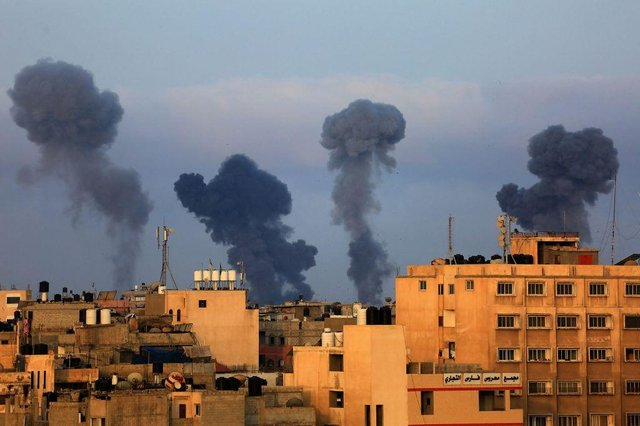 Israel carried out airstrikes on Gaza on Tuesday (Getty Images)