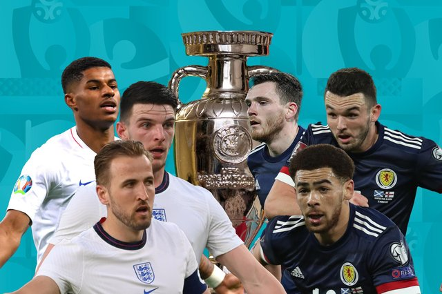 England and Scotland meet in the second game of the Euro 2020 group stages. (Graphic: Mark Hall / JPIMedia)