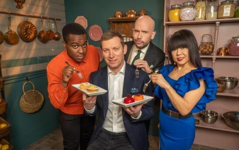 The judges and hosts have returned for a fourth series of the Channel 4 GBBO spin-off (Picture: Channel 4)