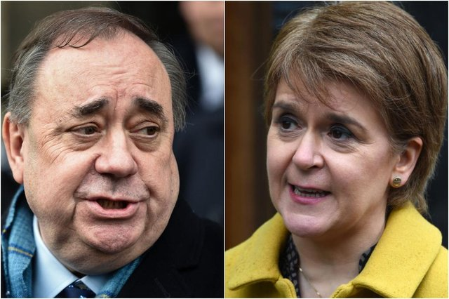 Sturgeon has accused Salmond of launching Alba for his own self interest and ego (Picture: Getty Images)