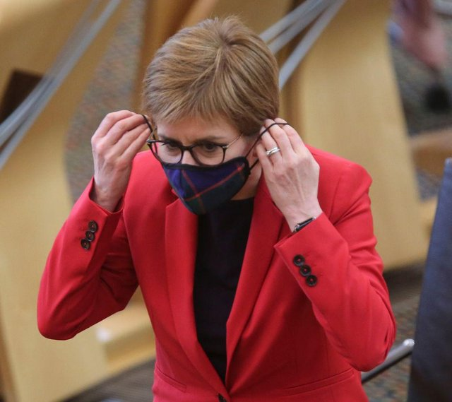 Nicola Sturgeon has aid that she will review coronavirus restrictions in Scotland on a weekly basis (Getty Images)