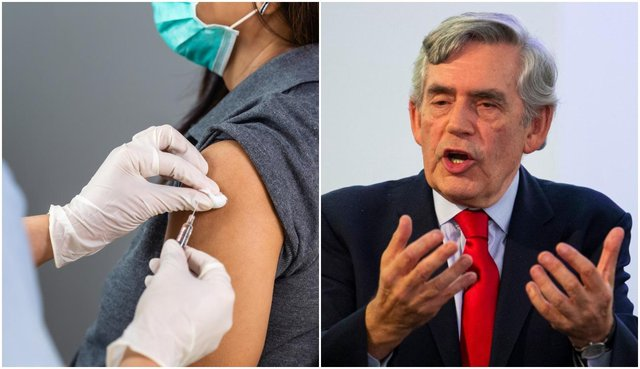 Gordon Brown has called for the mass vaccination of the world to be the primary focus of the G7 summit (Photos: Getty Images and Shutterstock)