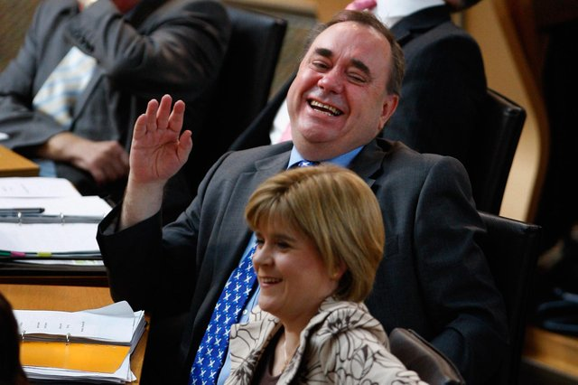 Alex Salmond with Nicola Sturgeon in 2008, when they were still on speaking terms (Photo by Jeff J Mitchell/Getty Images)