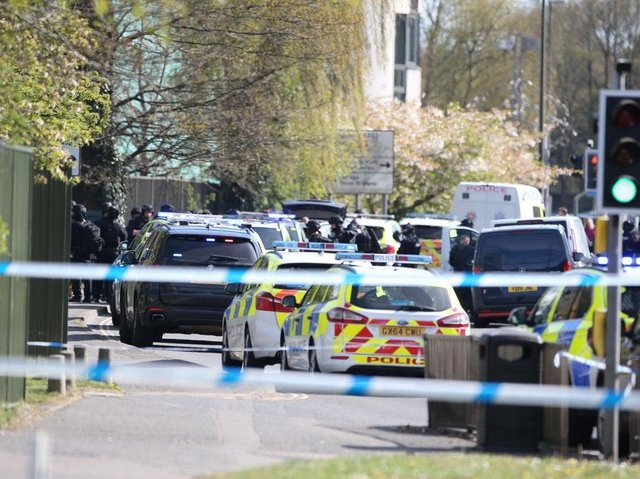 A large police presence is at the scene (Photo: Eddie Mitchell)