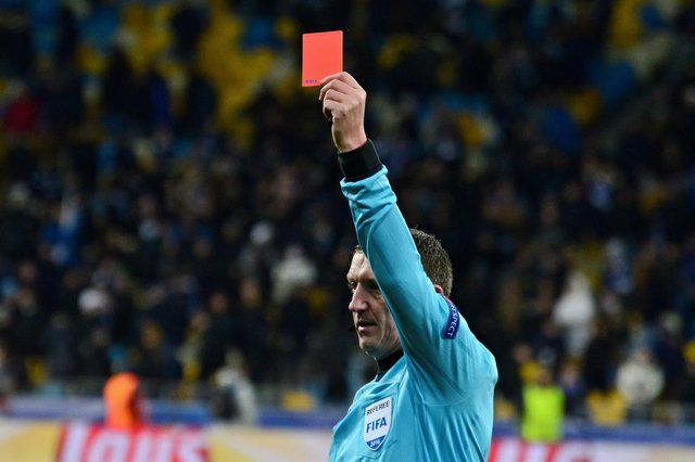 These are the teams who have been issued with the most red cards at the Euros. (Pic: Getty)