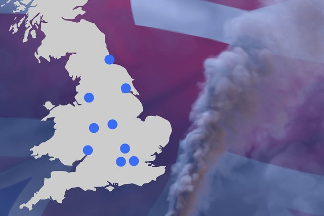 Most of the areas worst affected by air pollution-attributable deaths are in London - but there are vast differences between the worst and least affected areas in each English region