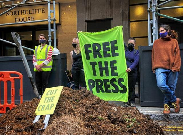 Extinction Rebellion dumped manure outside the offices of the Daily Mail newspaper (Photo: PA)