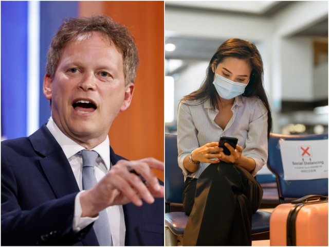 """Transport Secretary Grant Shapps has urged holidaymakers wanting to travel to countries on the Government's amber list to have """"more patience"""" (Photo: Tolga Akmen-WPA Pool/Getty Images and Shutterstock)"""