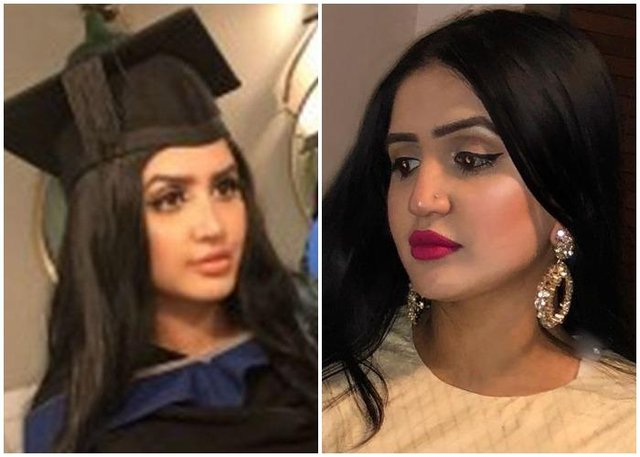Police in Lahore, Pakistan, are on the hunt for two men in connection with the killing of Mayra Zulfiqar (Facebook and LinkedIn)