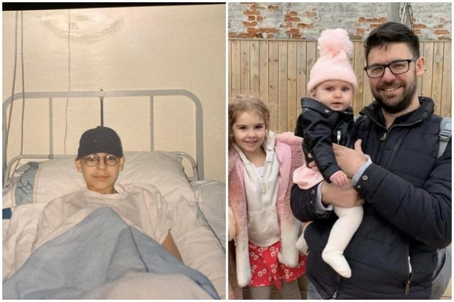 Tom has two children - five year old Rose and one year old Joni (Photo: SWNS)