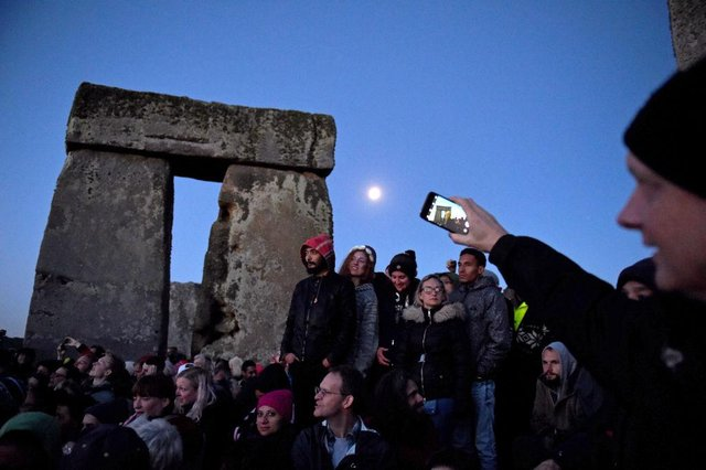 The summer solstice is celebrated by modern druids.