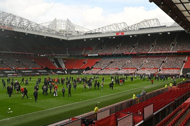 Old Trafford. (Photo by OLI SCARFF/AFP via Getty Images)