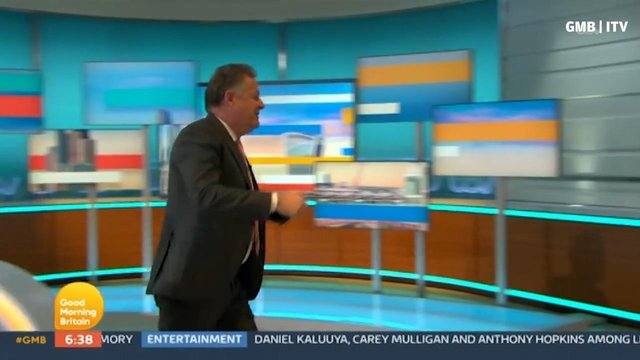 Good Morning Britain co-host Piers Morgan left the studio in the huff following another tense discussion over the Duke and Duchess of Sussex's Oprah Winfrey interview (Photo: ITV)