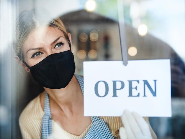 This is when stores, charity shops and hairdressers can reopen under the government's easing of Covid lockdown rules. (Pic: Shutterstock)