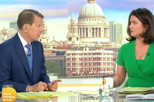 Bill Turnbull will appear as a guest presenter on Good Morning Britain this week, reuniting with his former co-host Susanna Reid (Photo: GMB/ITV)