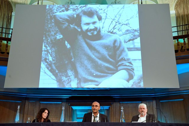 Alastair Morgan (right), the brother of murdered private investigator Daniel Morgan, with his partner Kirsteen Knight and family solicitor Raju Bhatt (centre) speaking to the media following the publication of the Daniel Morgan Independent Panel report (PA)
