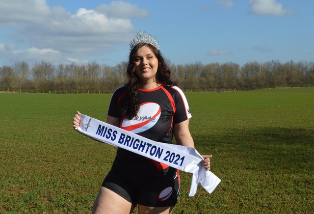 Danielle Evans, Miss Brighton 2021.