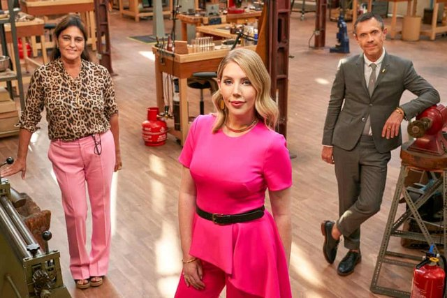Katherine Ryan hosts All That Glitters, with judges Shaun Leane and Solange Azagury-Partridge (Picture: BBC)