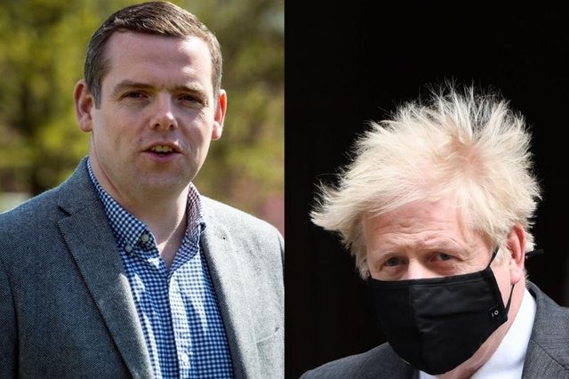 Douglas Ross said that Boris Johnson should resign if he broke the ministerial code (Getty Images)