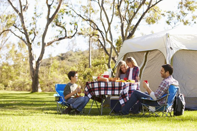Families might struggle to buy staycation equipment for their UK holidays as suppliers warn over a shortage in camping gear (shutterstock).