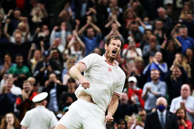 Andy Murray made a winning return to Wimbledon on the opening day of the 2021 tennis championship at SW19. (Pic: Getty)