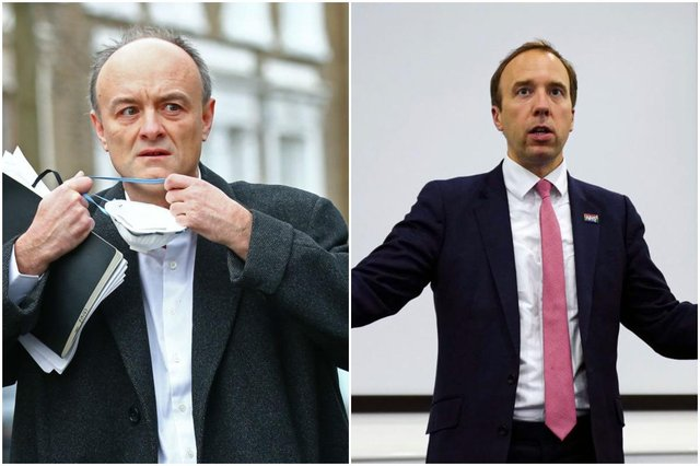 Why was Dominic Cummings giving evidence - and what did he say about Matt Hancock? (Photos by: Hugh Hastings/Getty Images &  Hollie Adams/Getty Images)