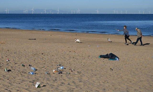 Littering has been a big problem during periods of lockdown easing in the UK.