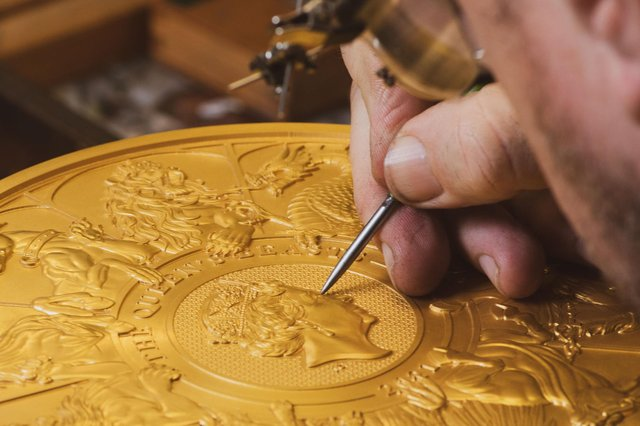 The 10-kilo gold coin took 400 hours to produce and has been described by the Mint as a 'masterwork' (Photo: The Royal Mint)