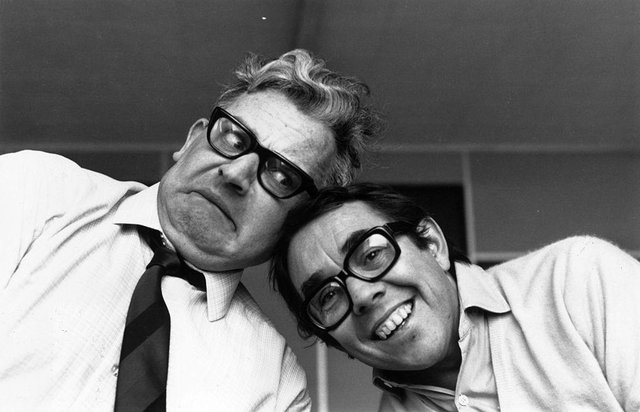 Television comedy duo The Two Ronnies, Ronnie Barker (left) and Ronnie Corbett.   (Picture: Getty Images)