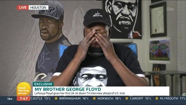 LaTonya Floyd talked about he death of her brother during an interview with Good Morning Britain (ITV)