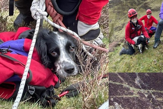 Louis had to be saved by mountain rescuers after falling 300ft down a waterfall (Moffat Mountain Rescue)