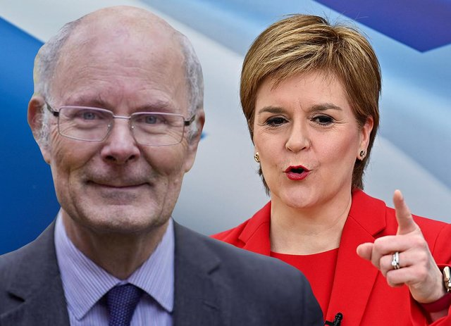 Sir John Curtice has said anything other than an SNP government after the Scottish Parliament election is 'inconceivable' (Graphic: Mark Hall)