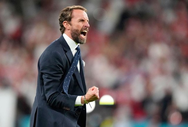 Gareth Southgate will be hoping he can make history at Wembley Stadium on Sunday, as his team go head to head with Italy (Picture: Getty Images)