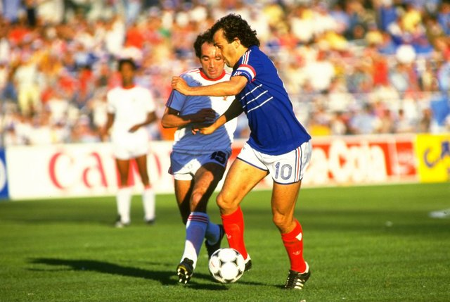Players such as Gerd Müller, Michel Platini (pictured) and Marco van Basten have all shone for their countries on the European stage - but who has scored the most tournament goals? (Pic: Getty)