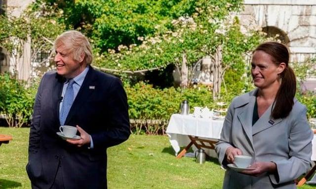 Jenny McGee alongside Boris Johnson at Downing Street (Getty Images)