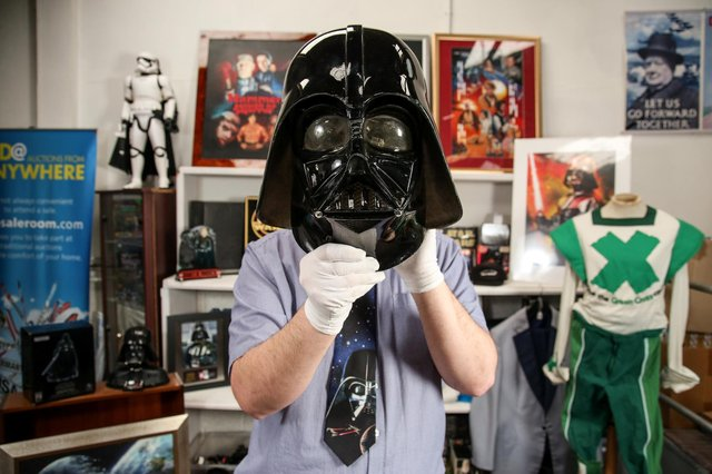 Items from the estate of late Star Wars actor David Prowse are set to go under the hammer on May 4th in Bristol (SWNS).