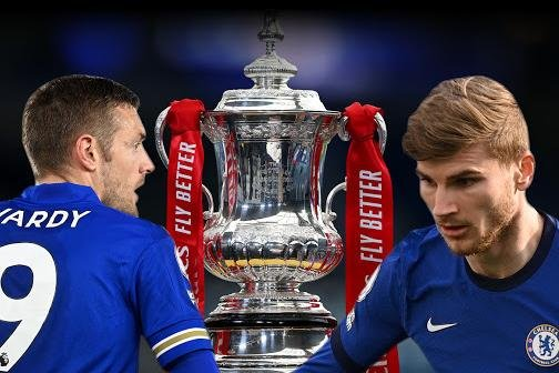 Last year's beaten finalists Chelsea will face Leicester City in the 2021 FA Cup Final at Wembley. (Graphic: NationalWorld)